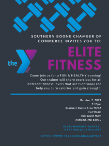 Chamber on Tap: Elite Fitness @ Southern Boone Area YMCA Turf Room