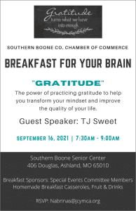 "Breakfast for Your Brain ""Gratitude"" @ Southern Boone Senior Center"
