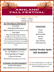 Ashland Fall Festival & Car Show @ Ashland City Park